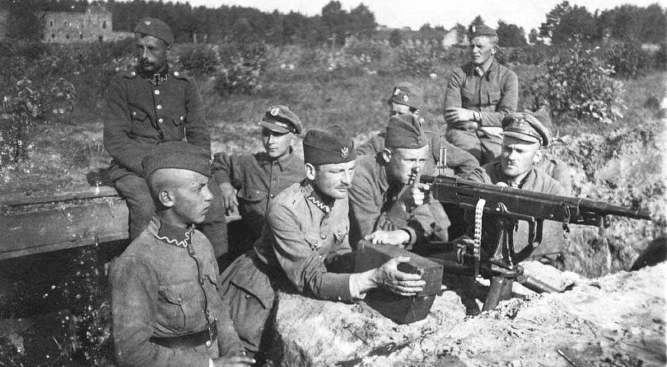 L'armée polonaise dans les tranchées