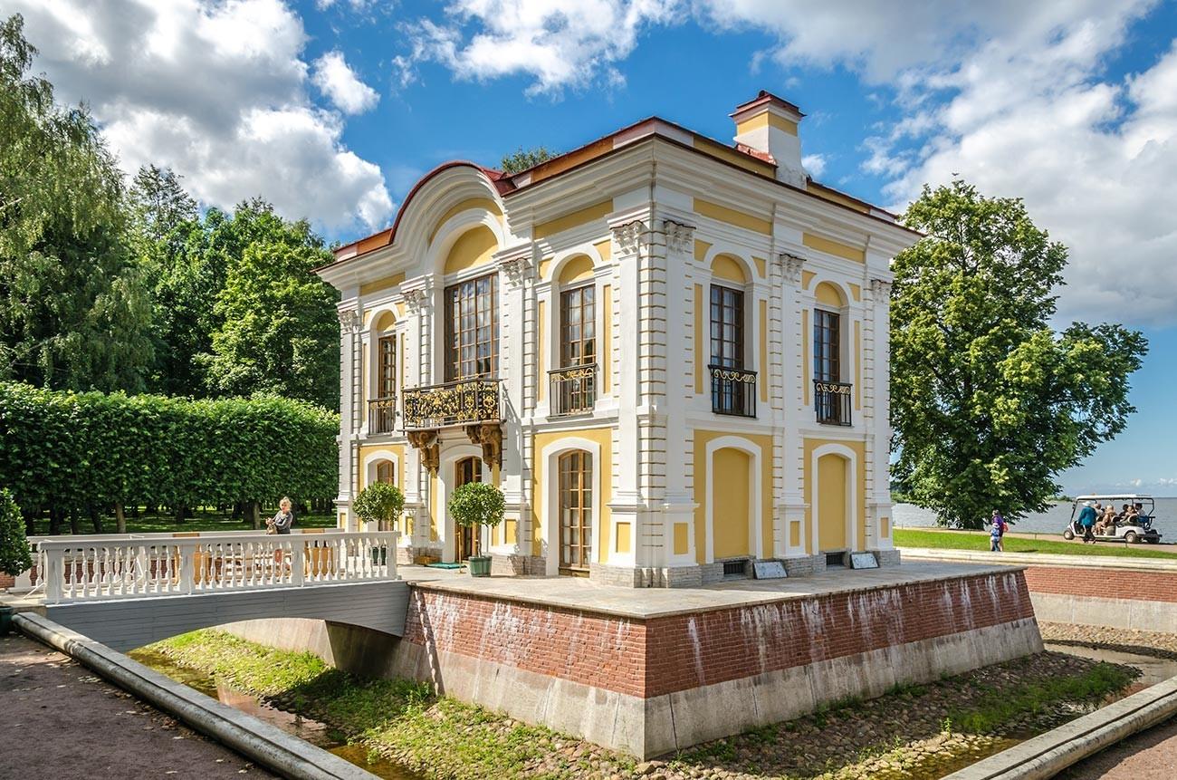 O Hermitage em Petergof.
