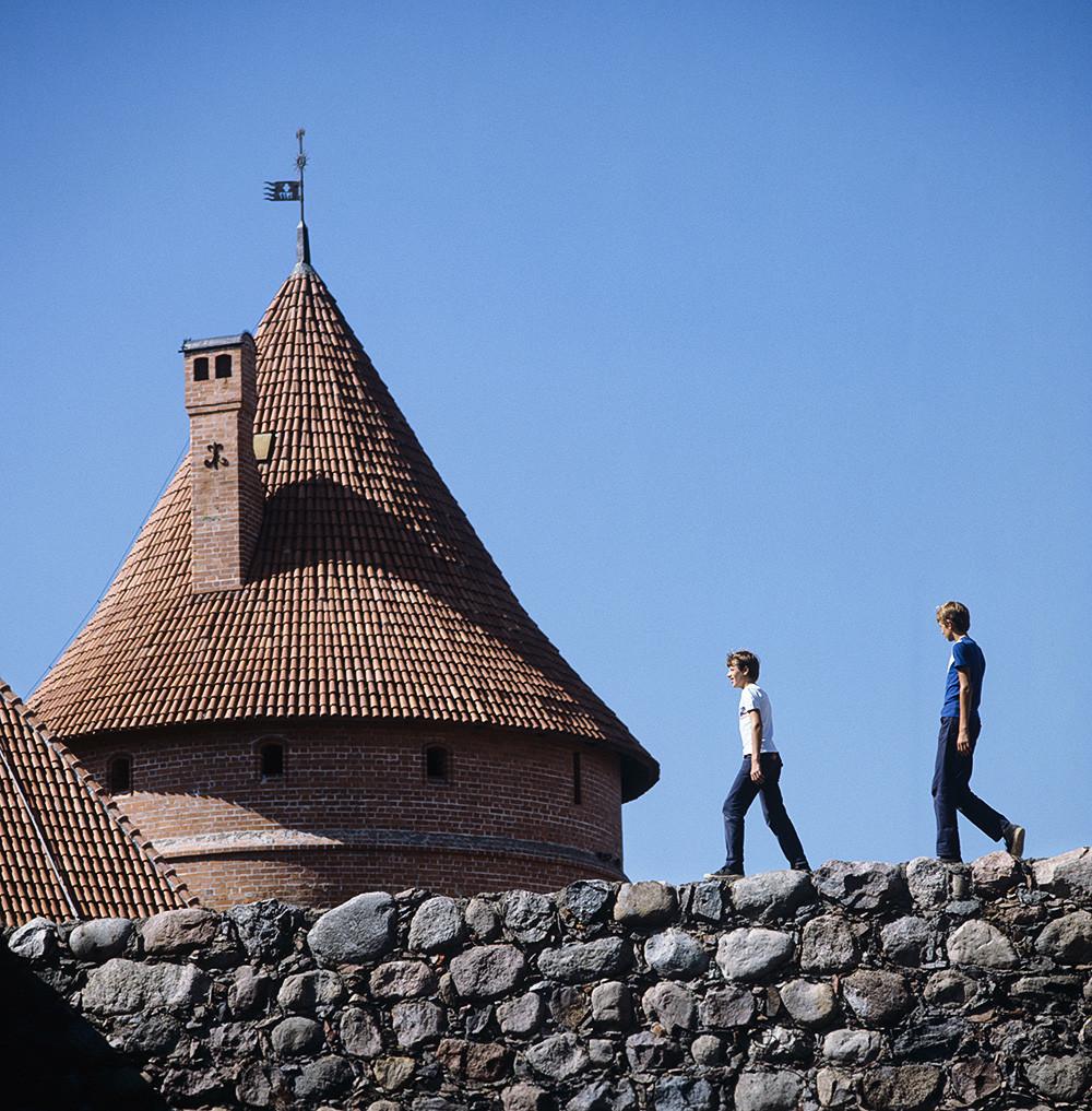 Куле Тракајского замка, 1983, Литванска ССР. Тракај. Куле средњевековног Тракајског замка.