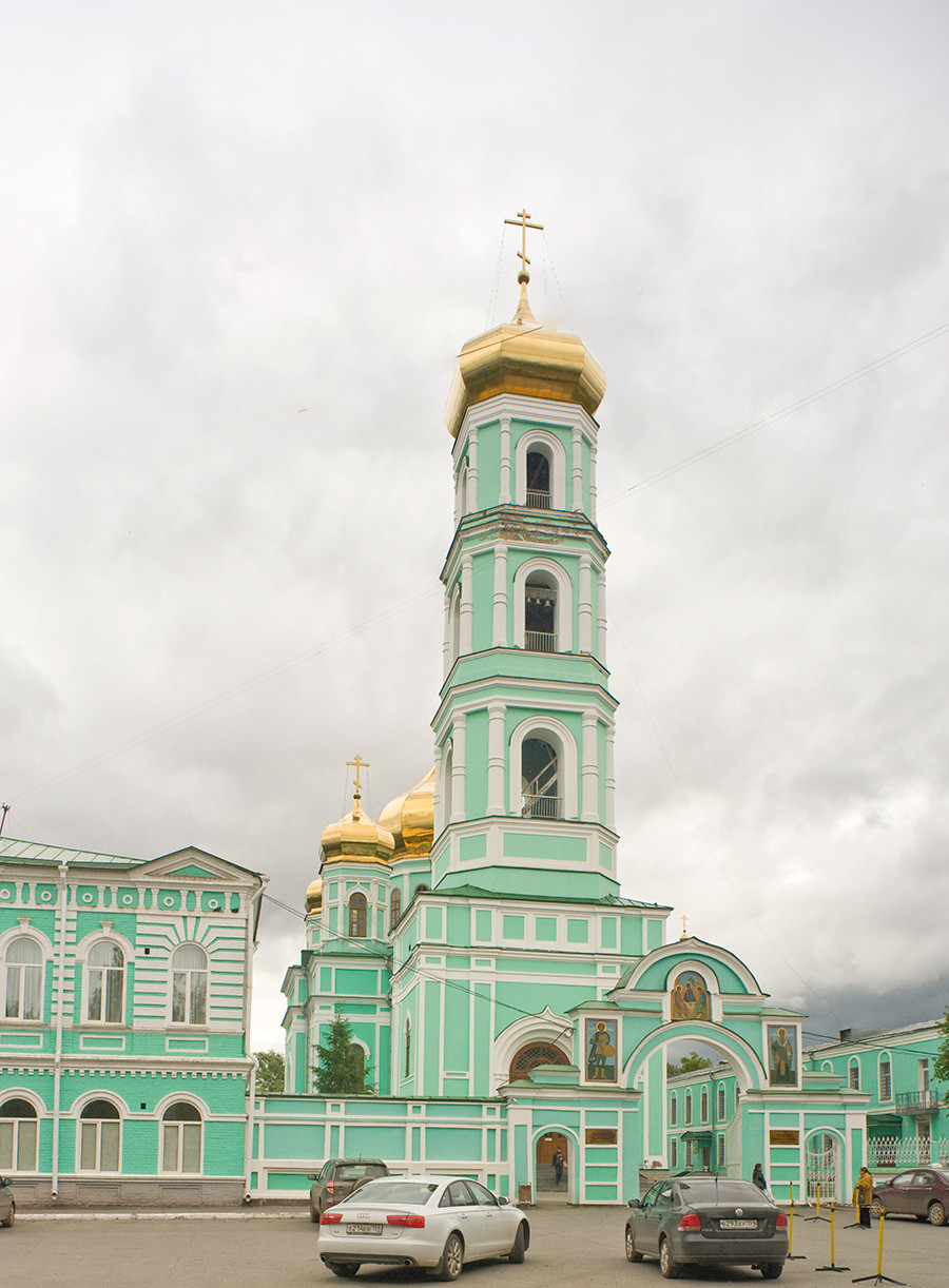 Clocher de la cathédrale de la Sainte-Trinité, colline Sloudka
