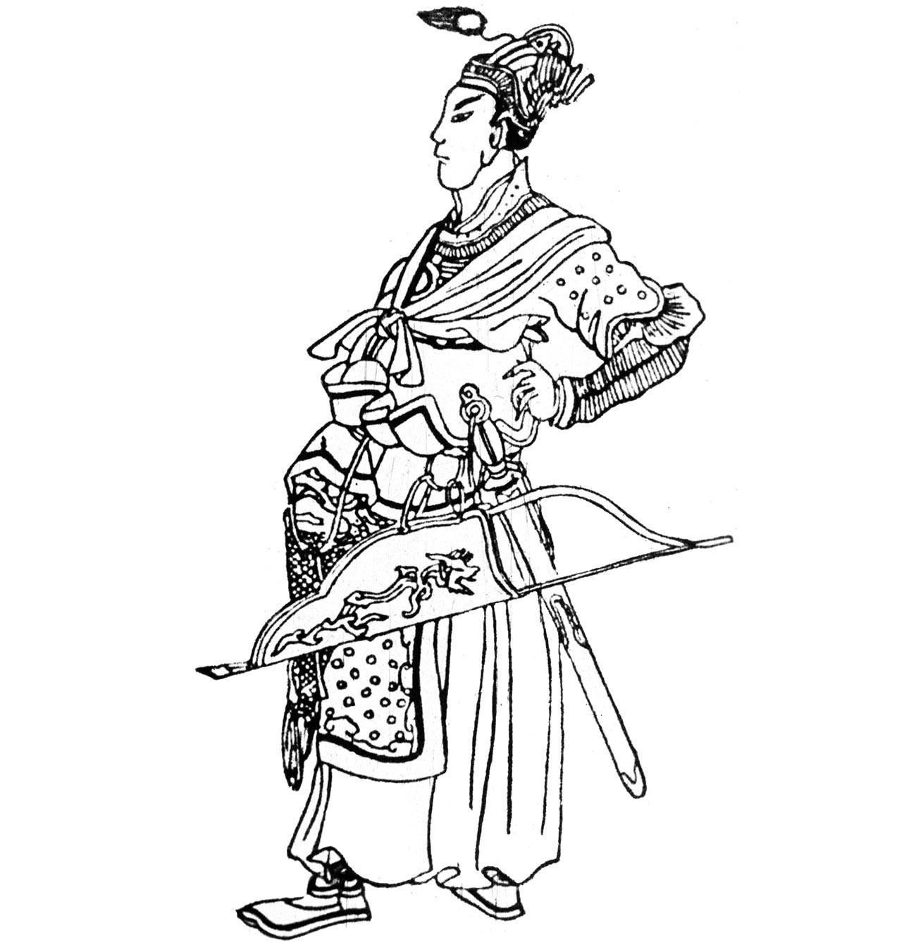 Batu Cã em gravura chinesa da Idade Média.