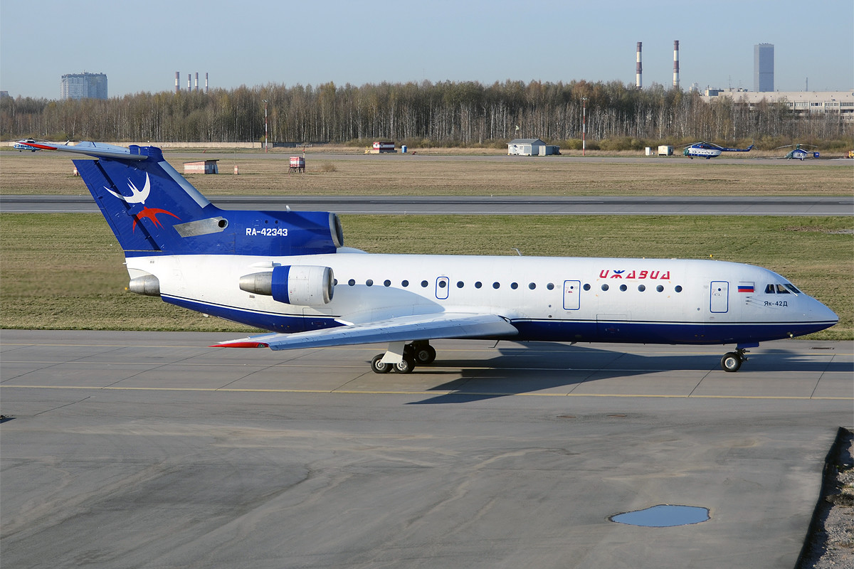 Izhavia Yakovlev Yak-42 at Pulkovo Airport