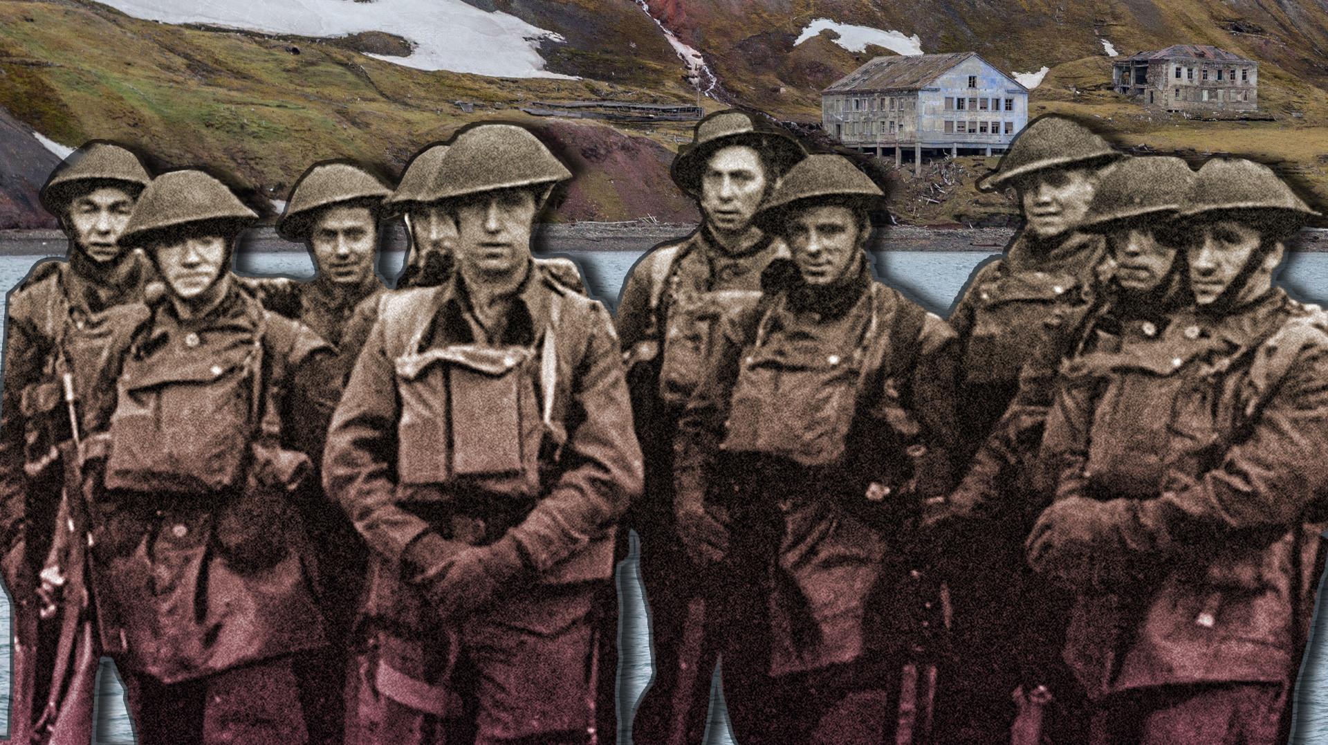 Канадские солдаты в Баренцбурге.