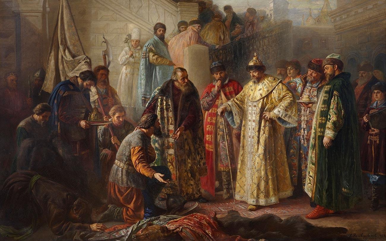 Jermakovi odposlanci pred Ivanom Groznim