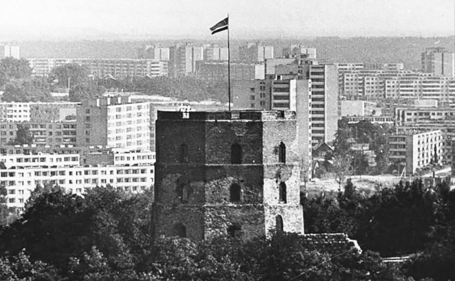 Torre de Gediminas em Vilnius, década de 1980