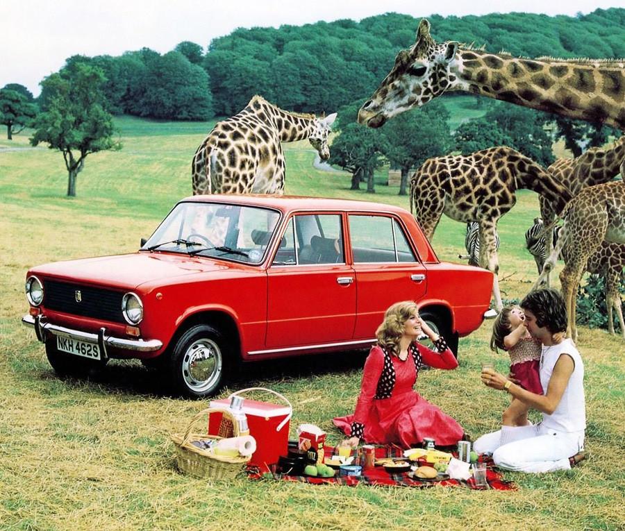 Publicité de la Lada 110 à destination du Royaume-Uni