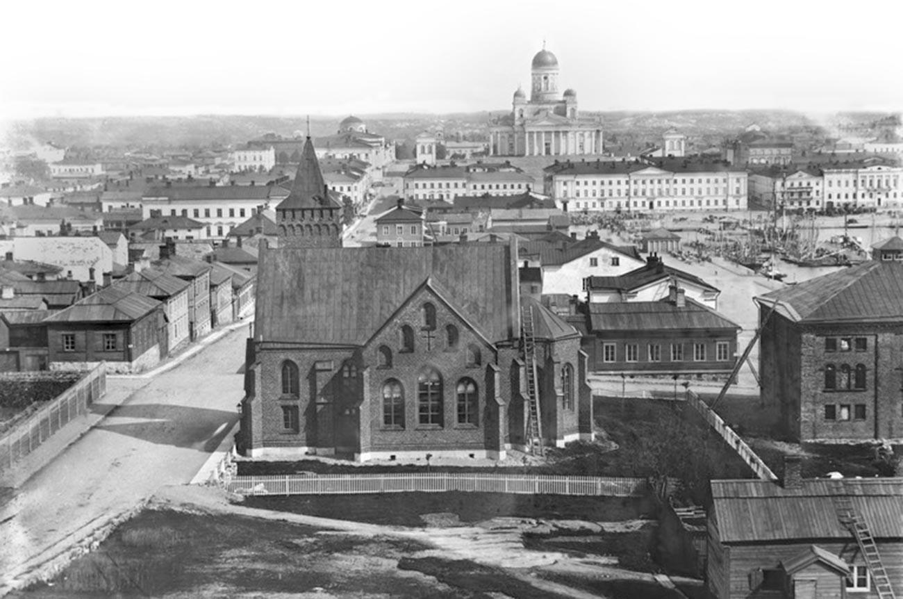 ヘルシンキの風景、1867年