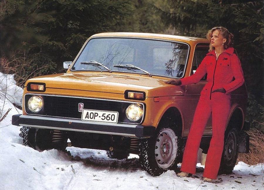 Publicidad del todoterreno VAZ-2121, el mítico Lada Niva, que todavía sigue siendo muy popular.