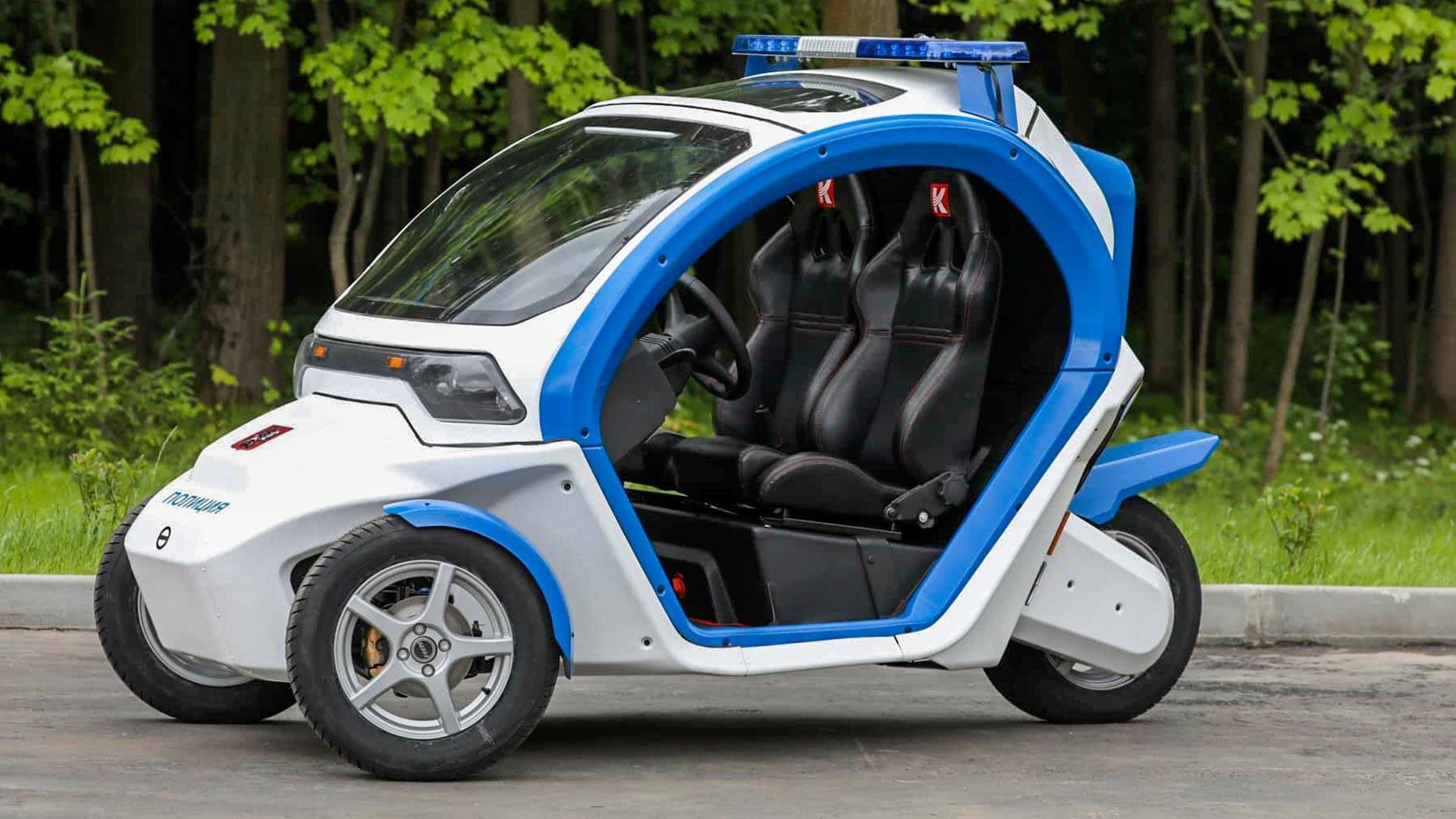 Mobil listrik Ovum untuk polisi Moskow.