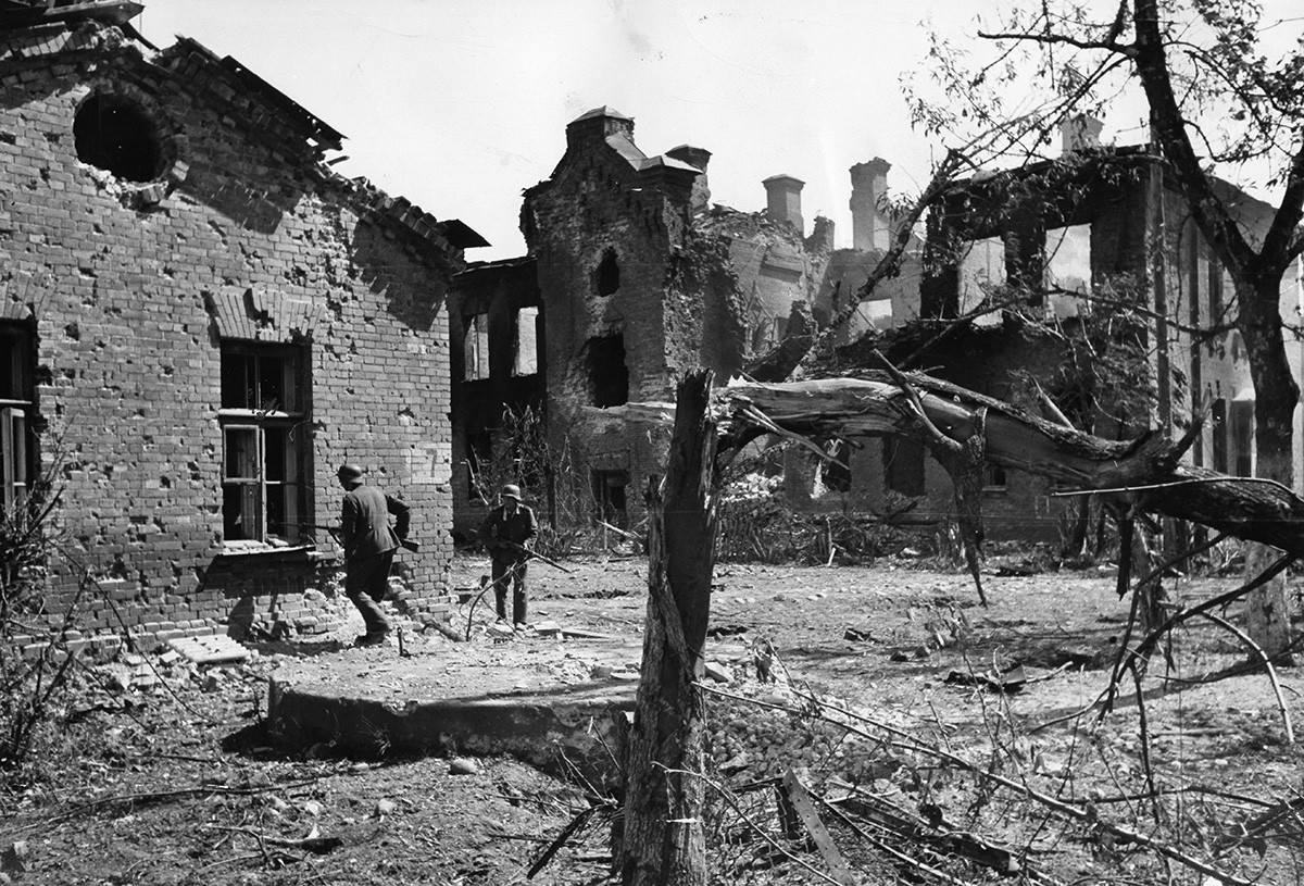 Brest Fortress during the fight in 1941.