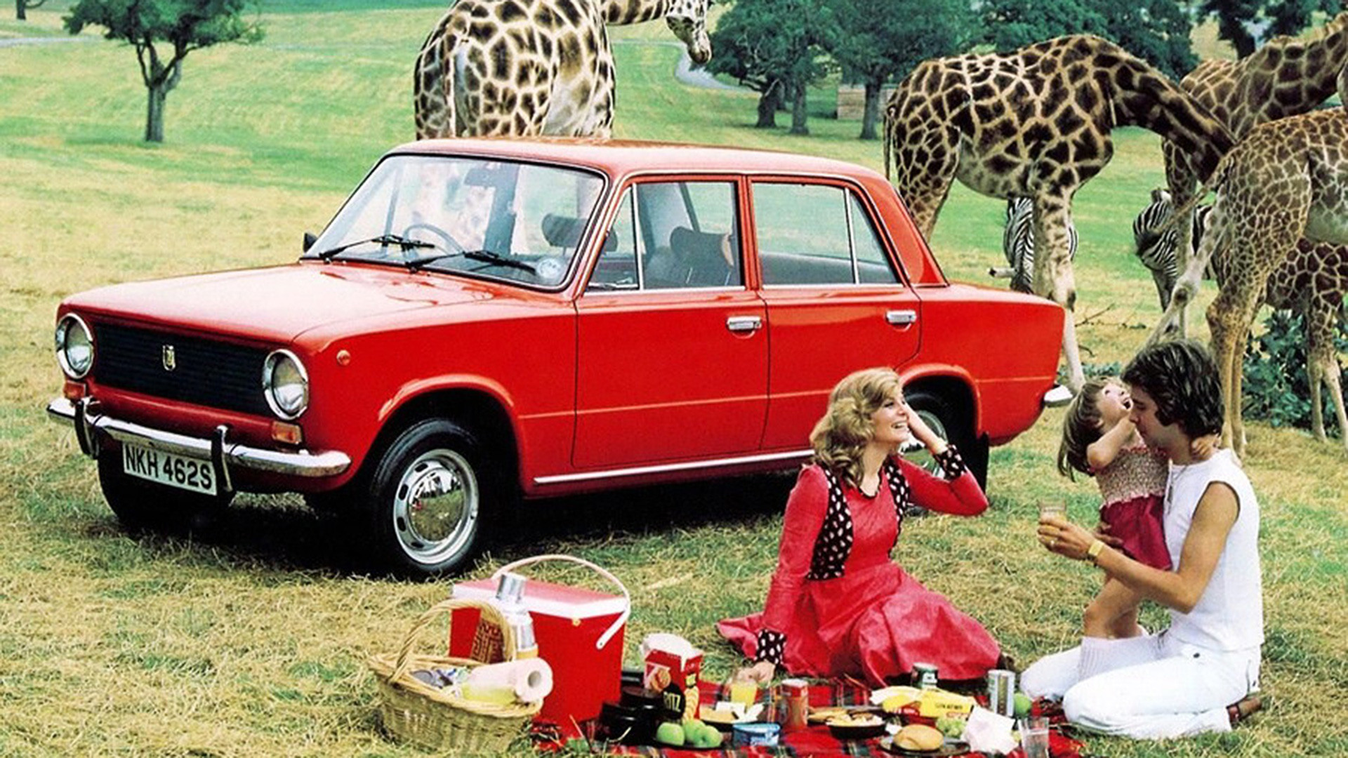 Iklan Lada-110 atau VAZ-21012 yang populer di Inggris.