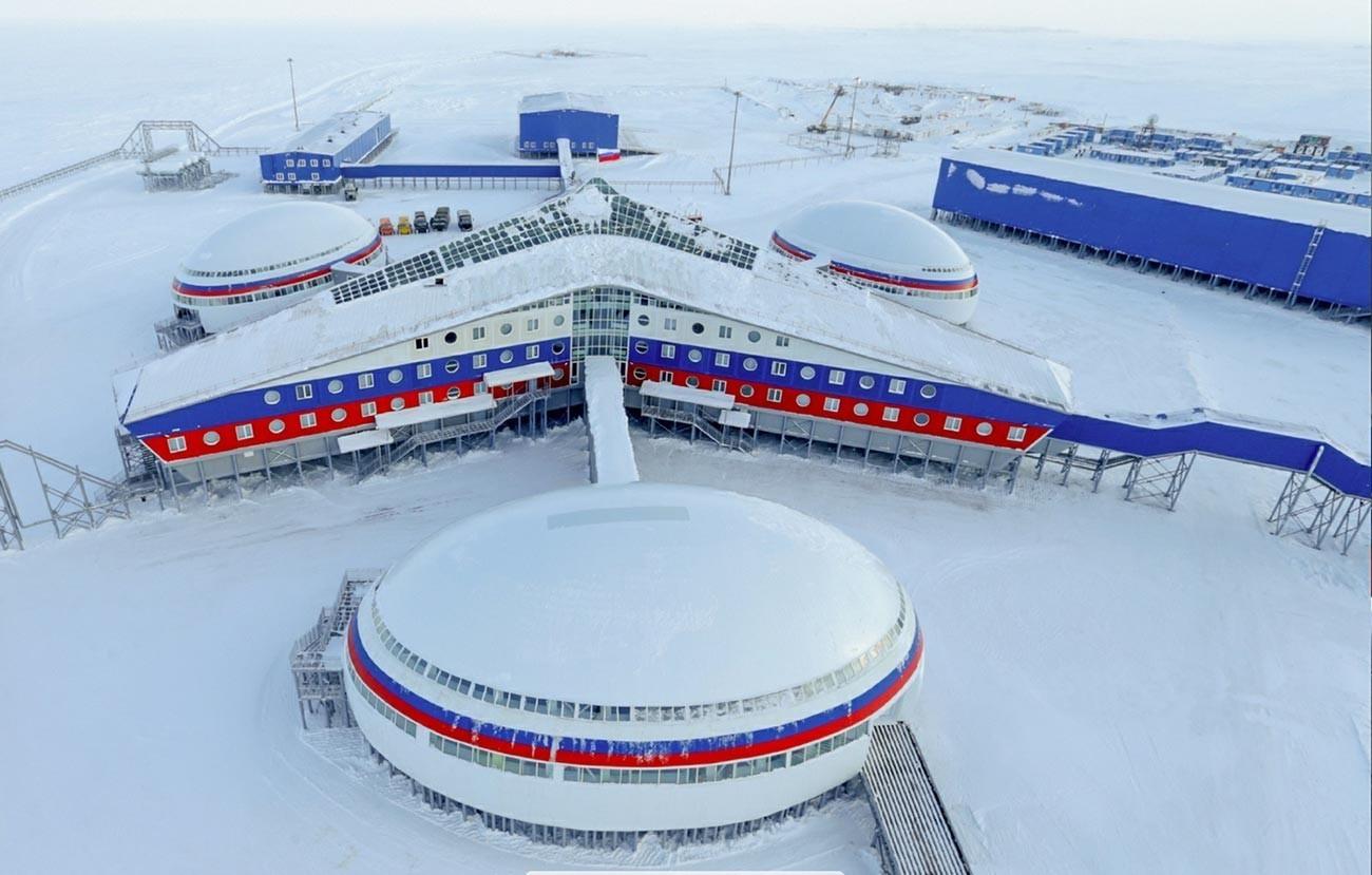 Ruska arktična vojaška baza Arktična deteljica