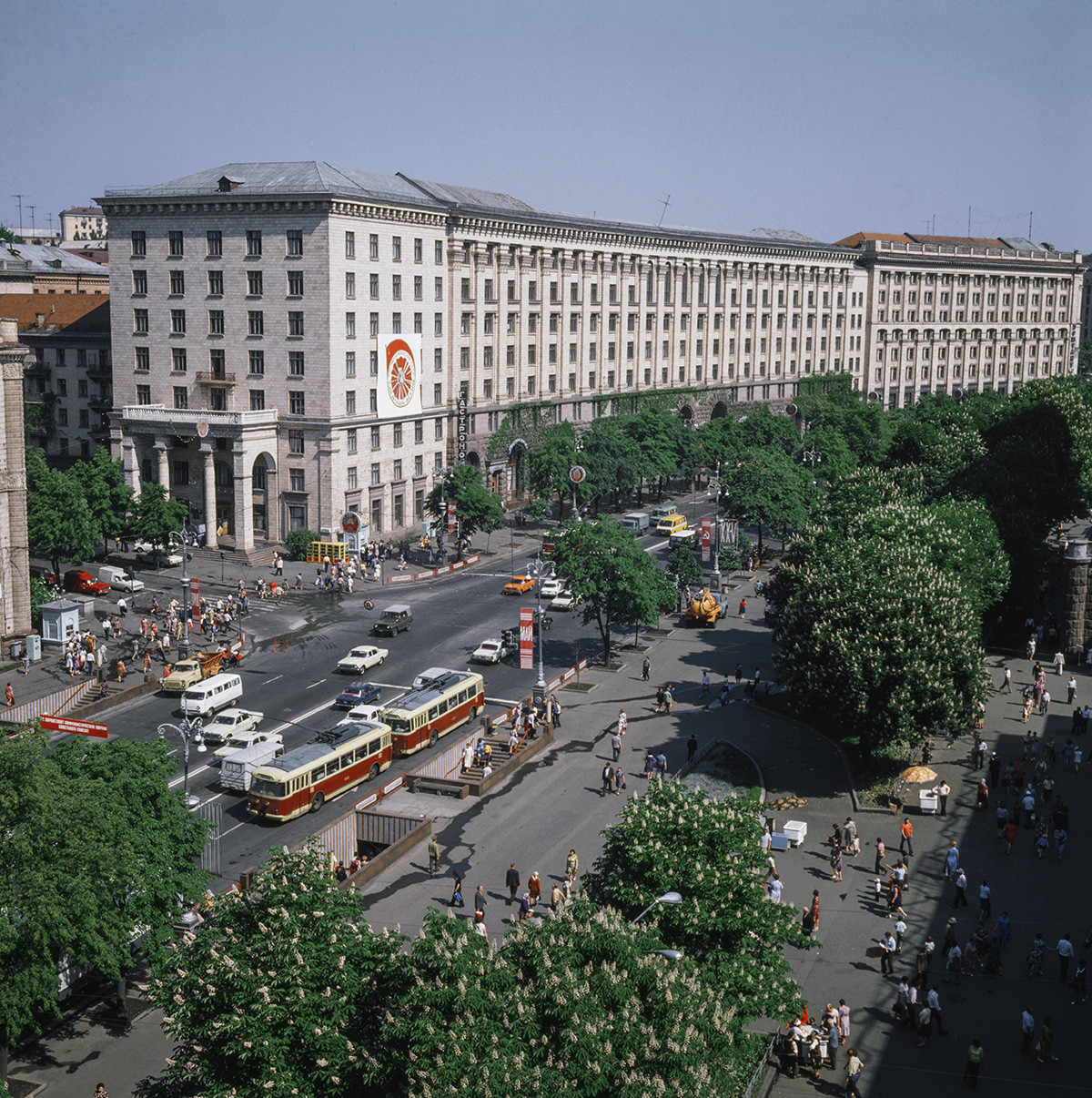 Крещатик - центральная улица Киева, 1979
