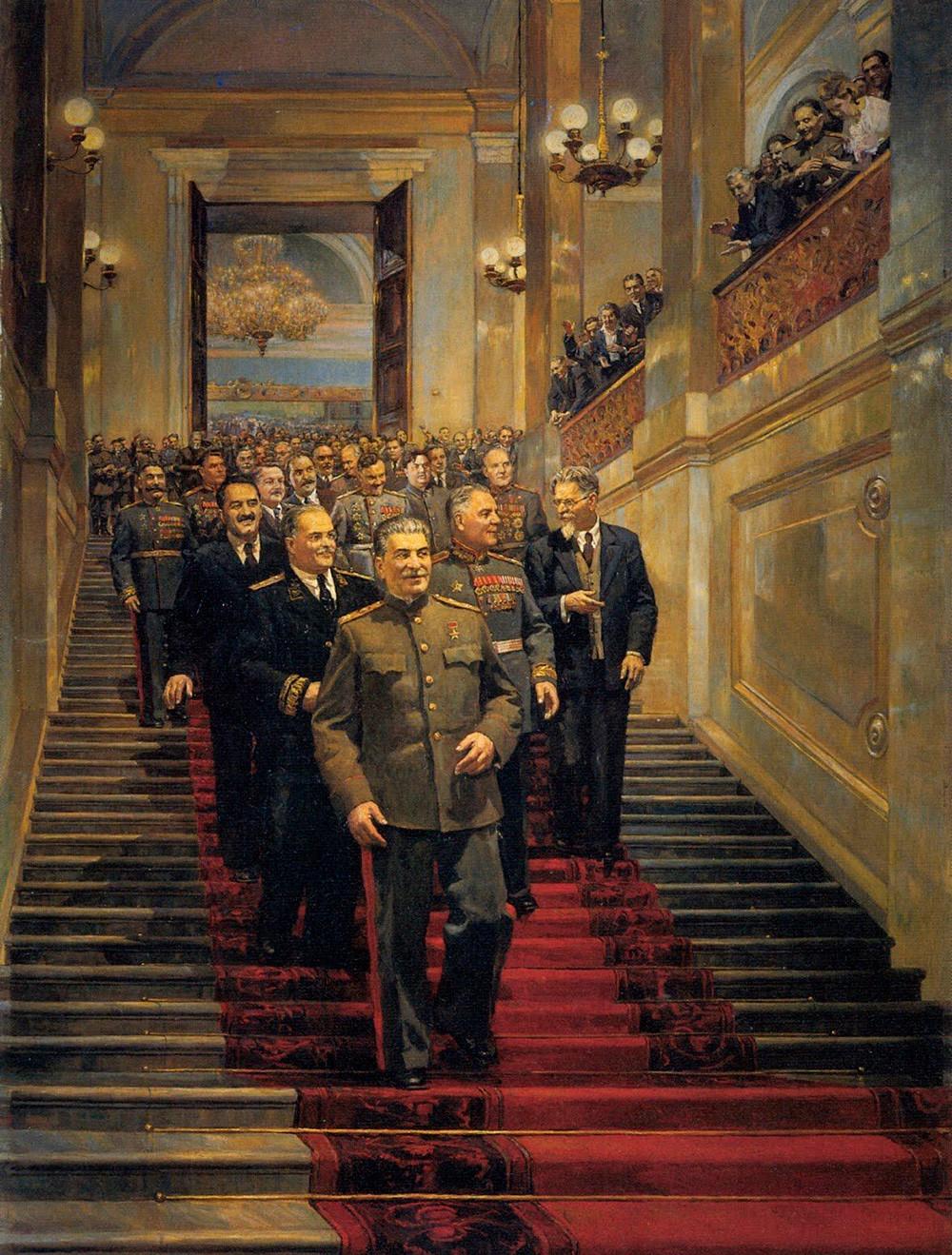«В Кремлевском дворце 24 мая 1945 года» Д. Налбандян.