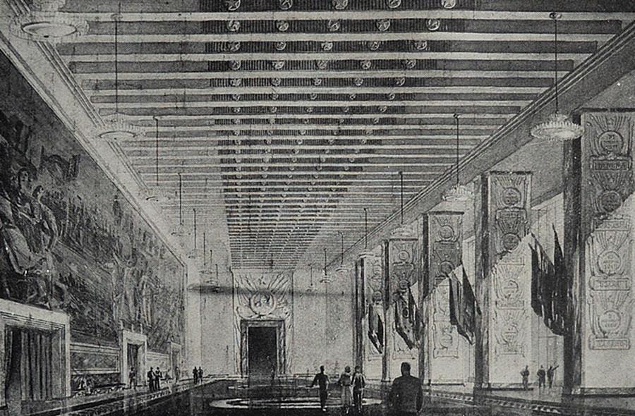 ソビエト宮殿の内装