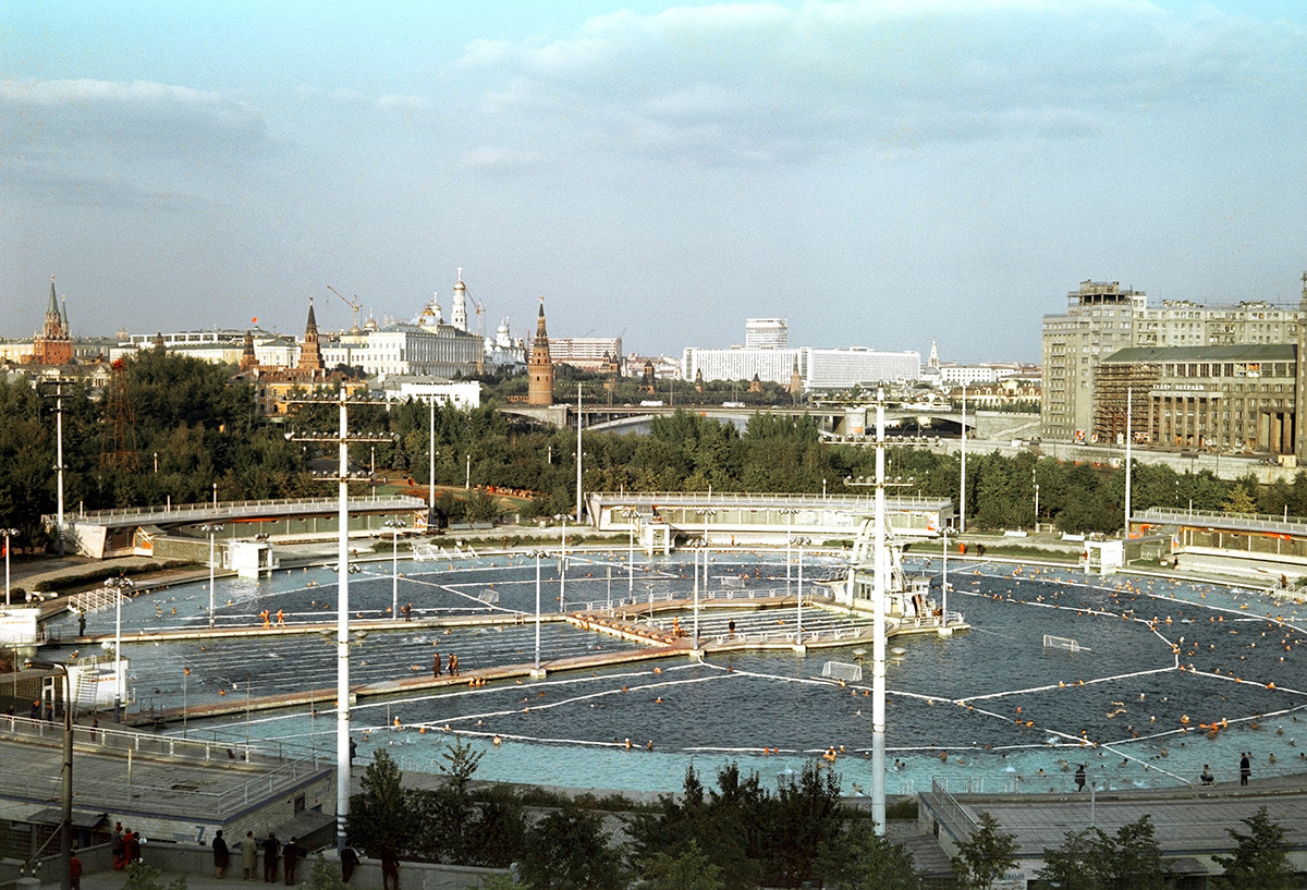 Moskva swimming pool, 1977