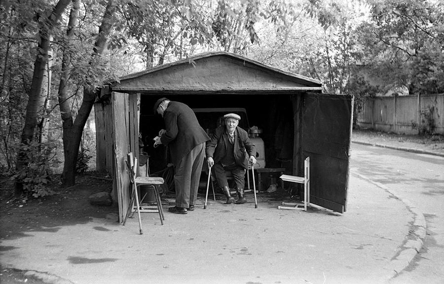 Garaža u naselju Čerjomuški, 1980.