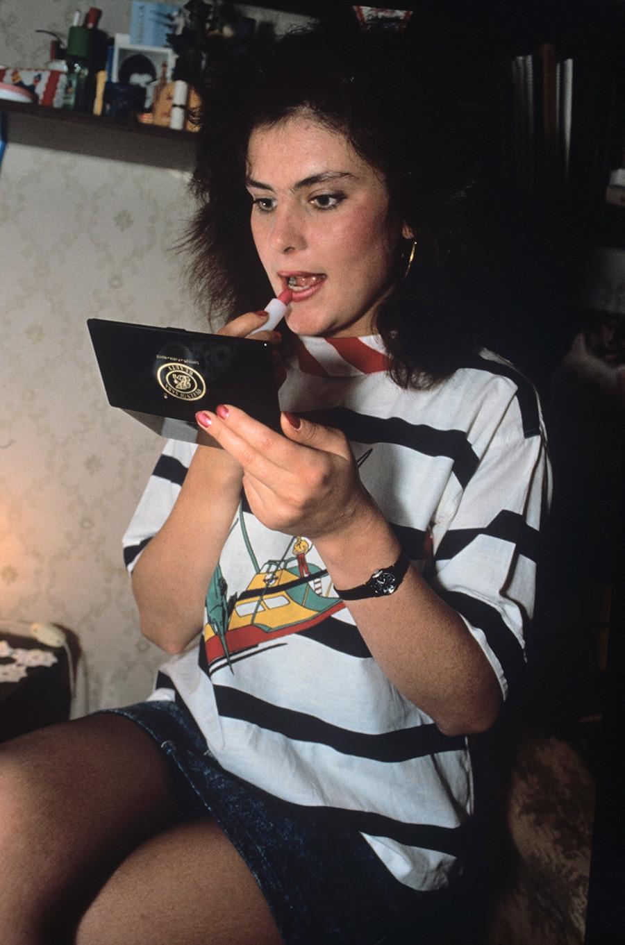 Мисс КГБ-1990 - Екатерина Майорова.