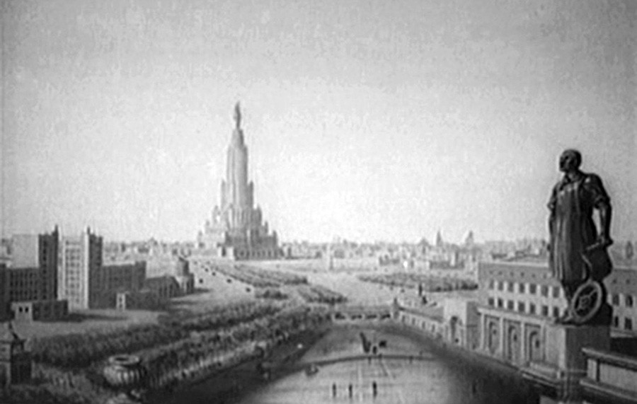 Kader iz filma Nova Moskva