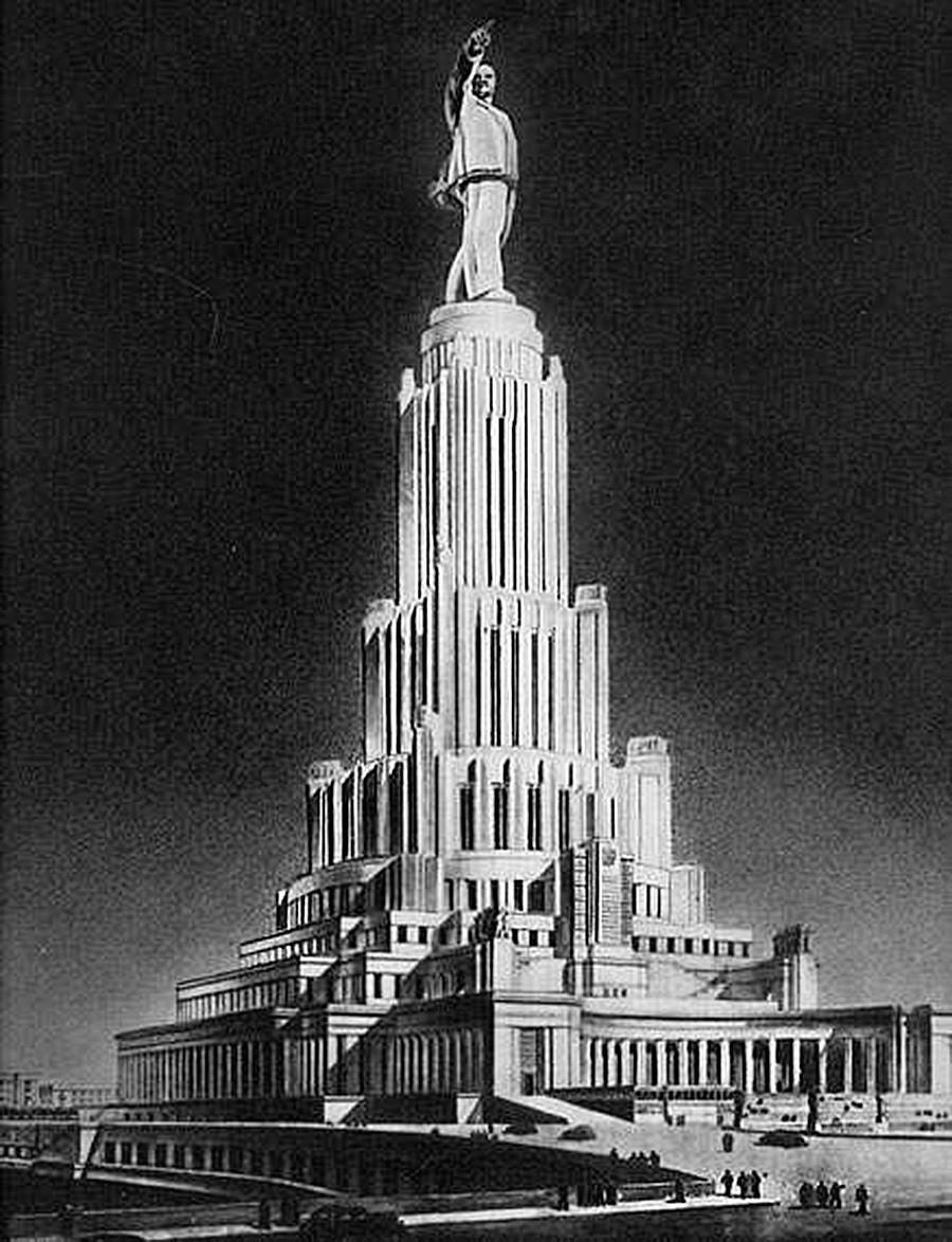 Maketa palače po zamisli Borisa Iofana iz leta 1934