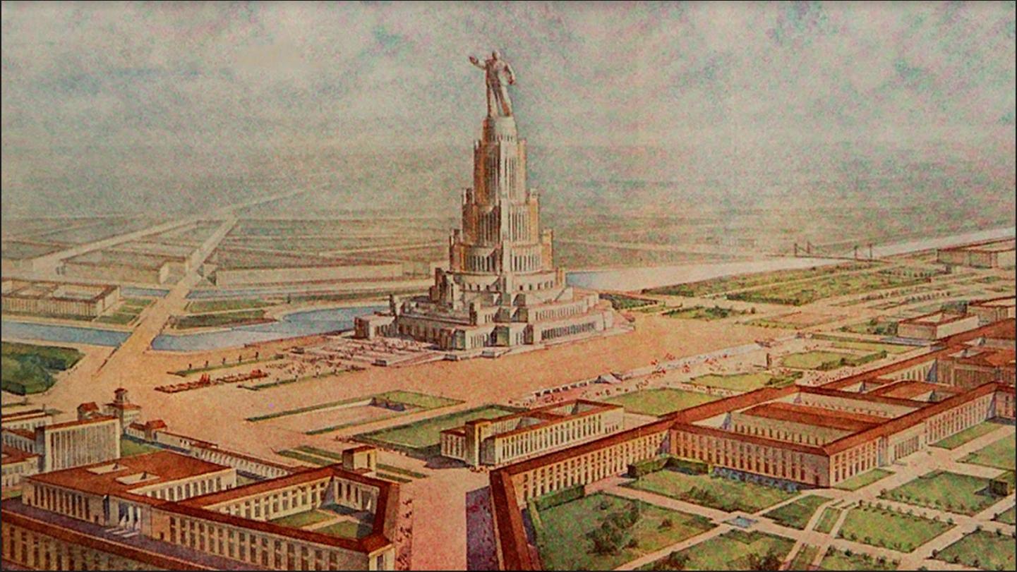 Ilustracija Palače sovjetov
