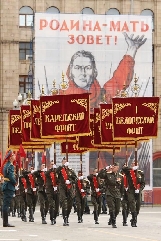 Parade Kemenangan di Volgograd.