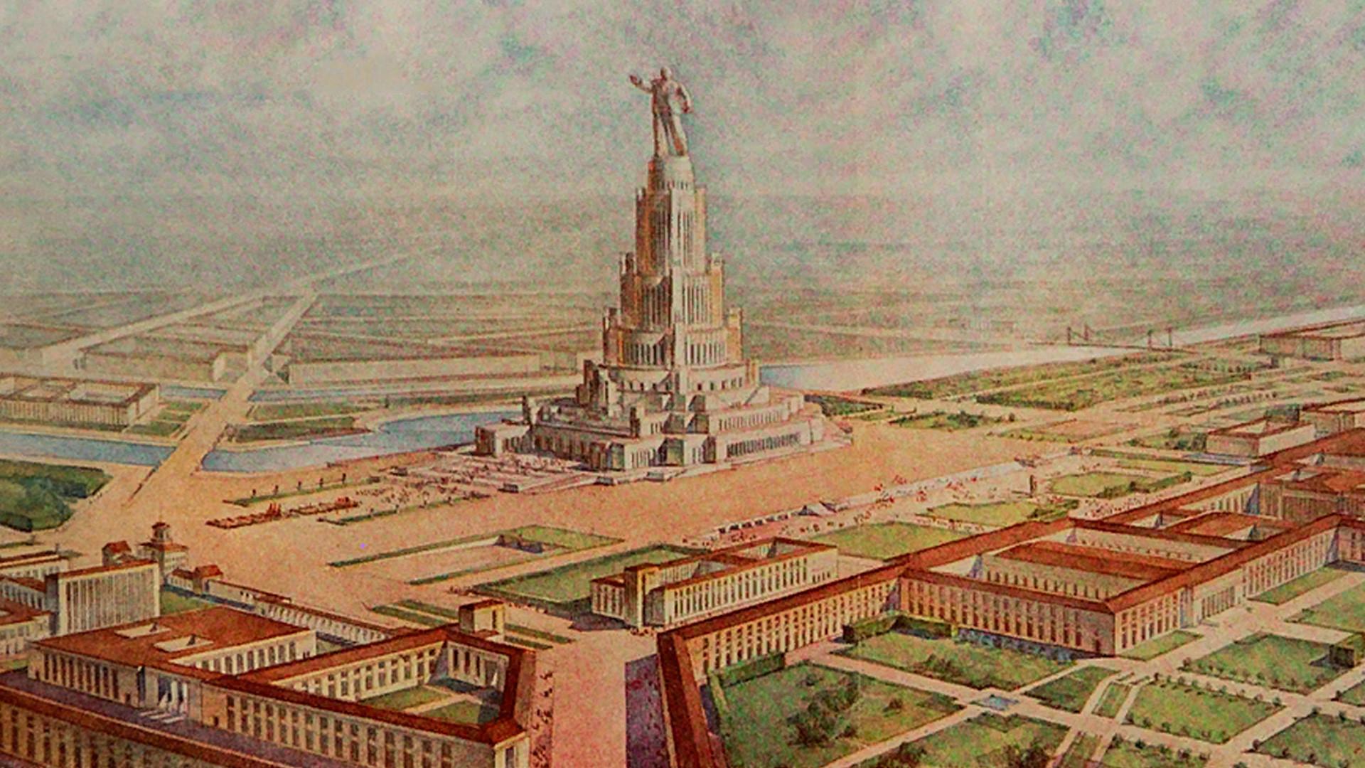 Ilustración para el Palacio de los Soviéticos