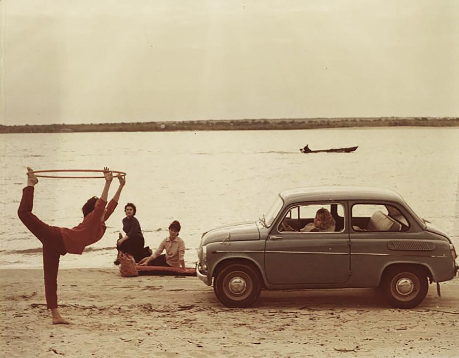 Реклама автомобиля ЗАЗ-965, 1960 - 1963