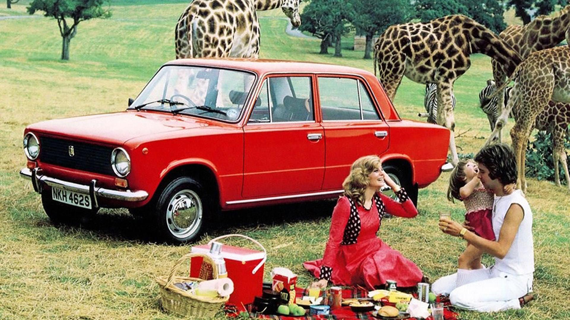 Реклама Лады-110 (она же ВАЗ-21012) для Великобритании