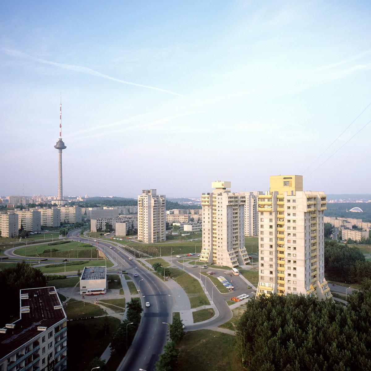 Населбата Лаздинај во Вилнус, 1985 година Литванска ССР.