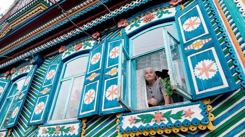 Hiša kovača Kirillova v Sverdlovski regiji.