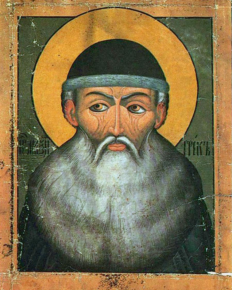 Un ritratto di Massimo il Greco risalente al XVI-XVII secolo, autore sconosciuto
