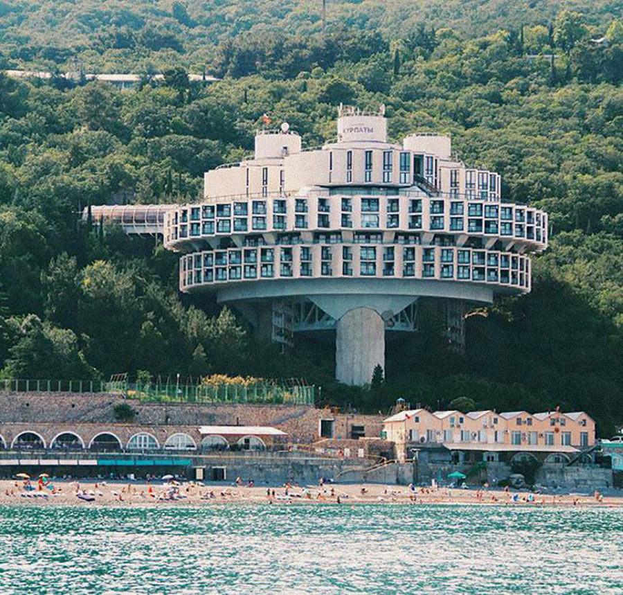 Russia, Yalta, Druzhba Holiday Center Hall.