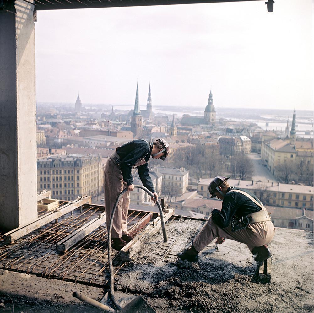 Eisenarbeiter, Schüler der Berufsschule Nr. 13 in Riga, 1975
