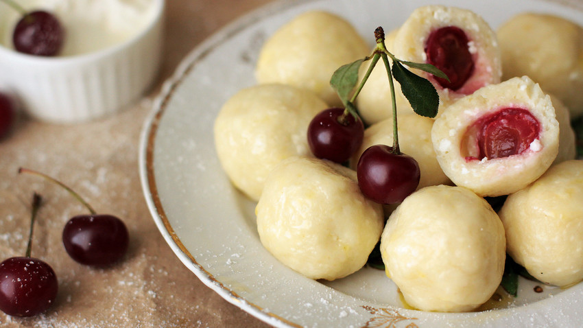 We can't promise that these cherry vareniki will fly straight into your mouth but we for sure know you will enjoy them!