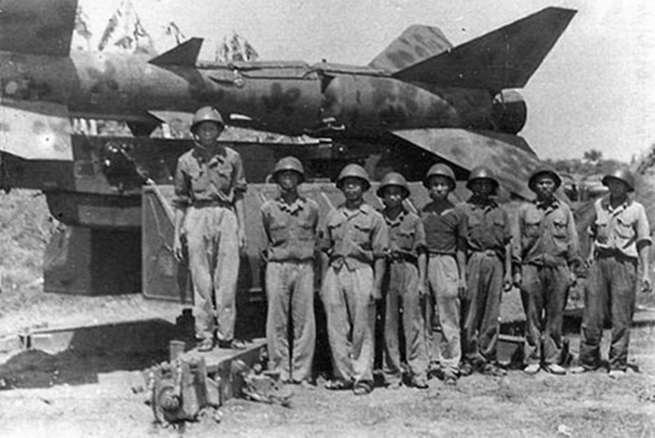 1967年4月。ベトナムの発射要員