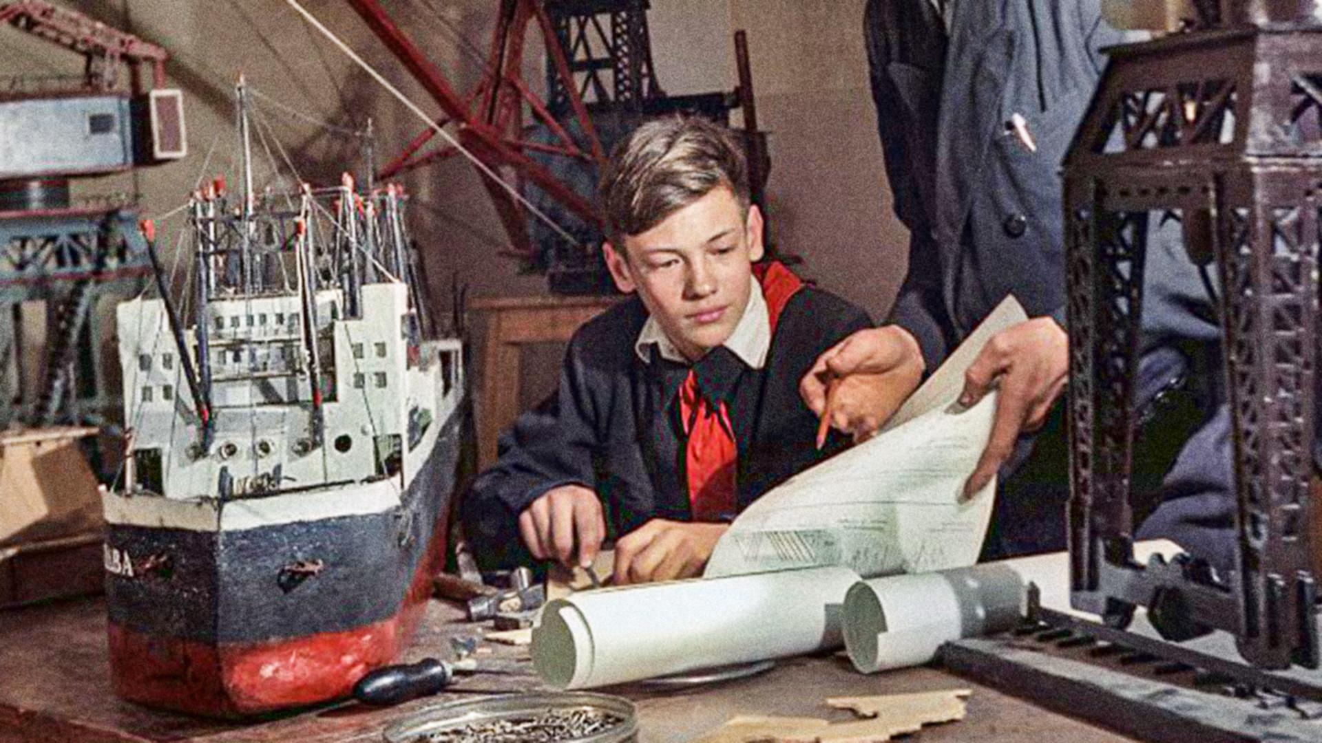 Технический кружок, 1953.
