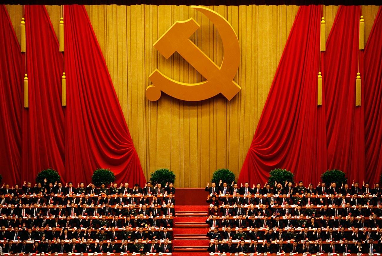 Delegierte der Abschlusssitzung des 18. Nationalkongresses der Kommunistischen Partei Chinas in Peking.
