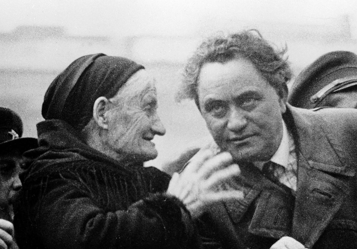 Georgui Dimitrov y su madre