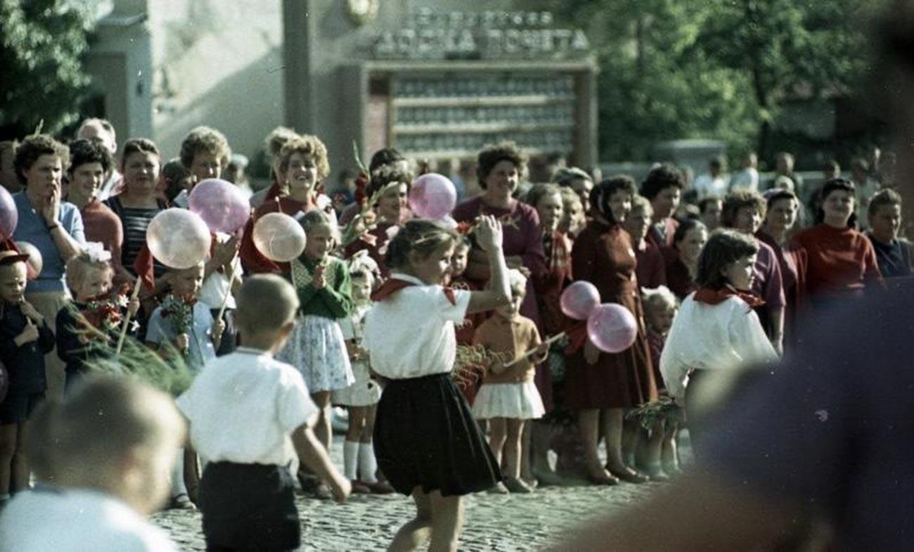 Desfile en Tiraspol, 1964.