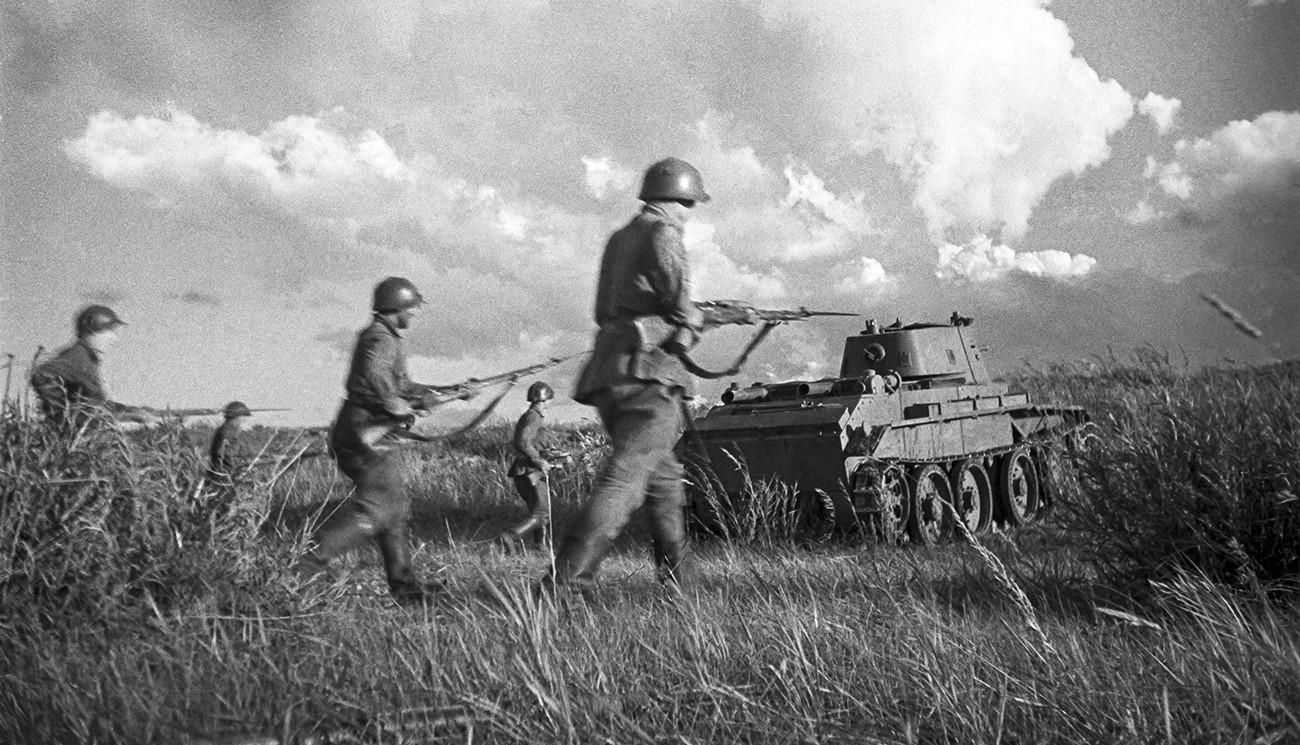 La Fanteria sovietica durante la battaglia di Khalkhin Gol