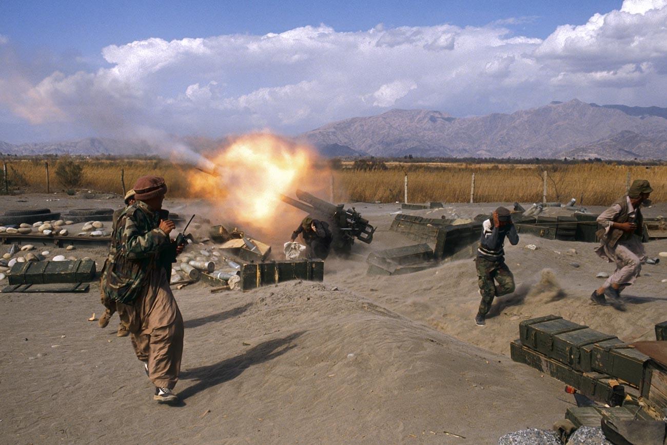 Ofensiva Mujahidin en el área de Jalalabad en Afganistán