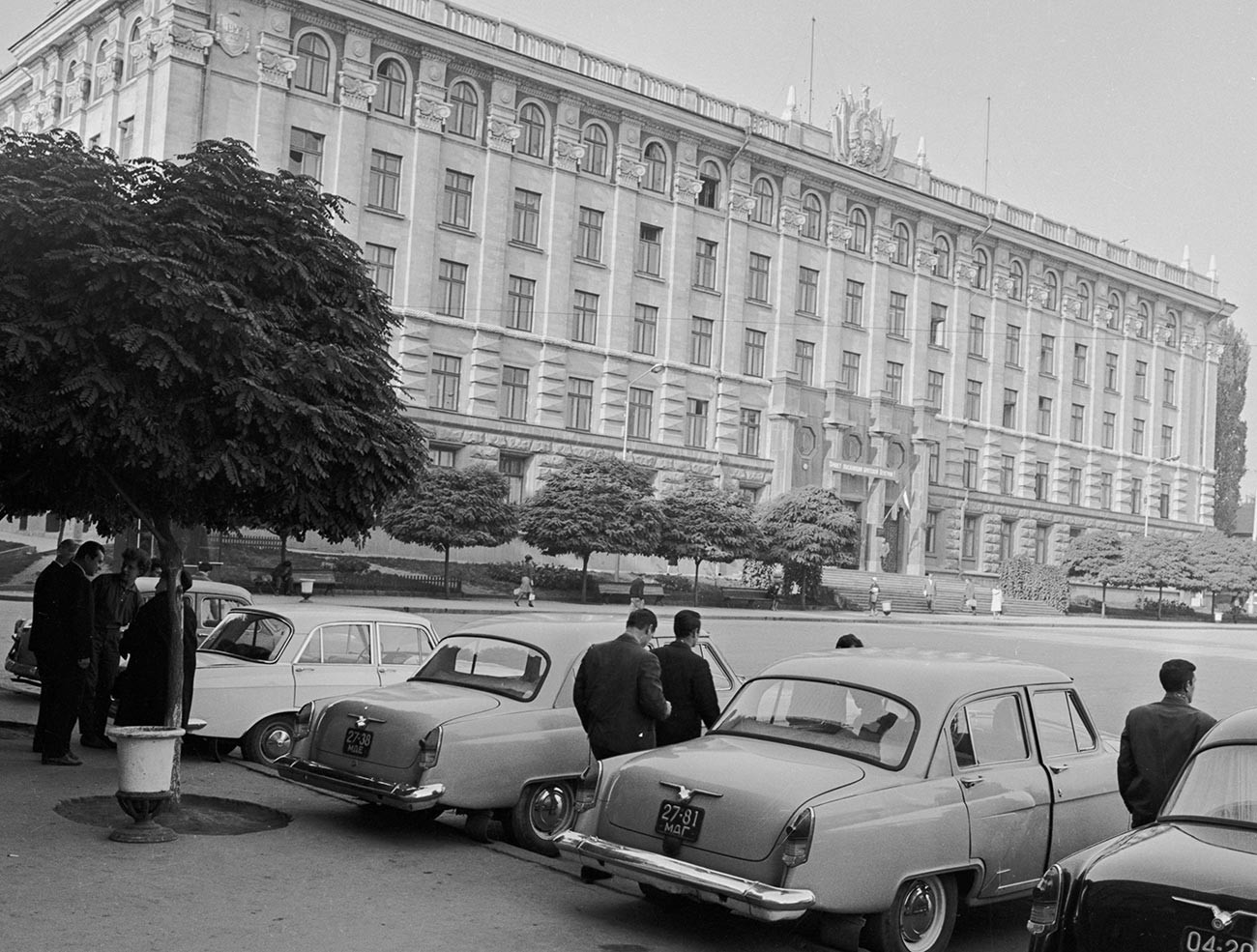 Зградата на Академијата на науките на Молдавската ССР во Кишинев, 1966 година.