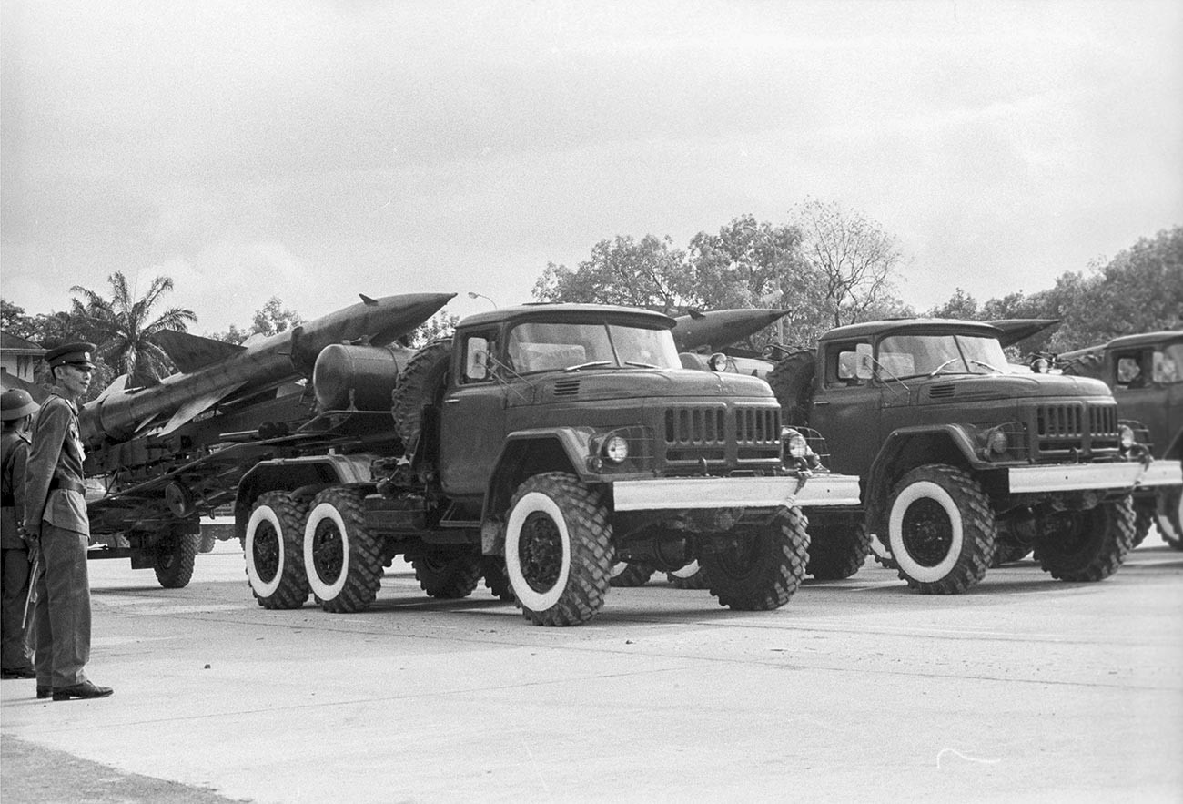 Soviet military equipment in Hanoi.