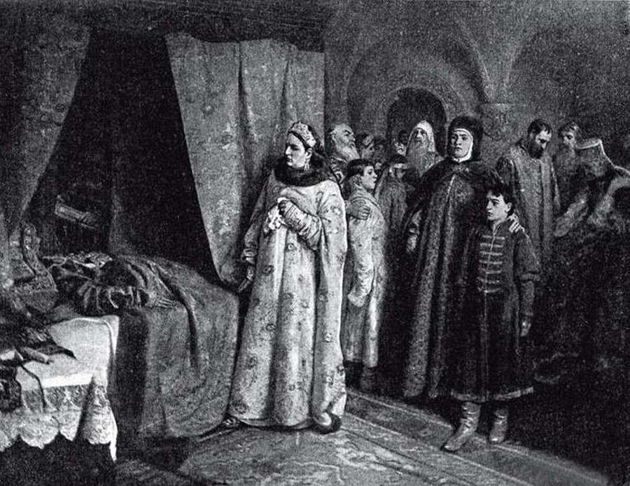 『フョードル3世の死』、K.レベデフ
