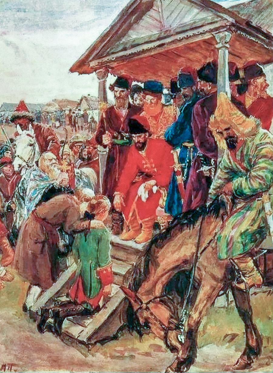Pugachev's tribunal.