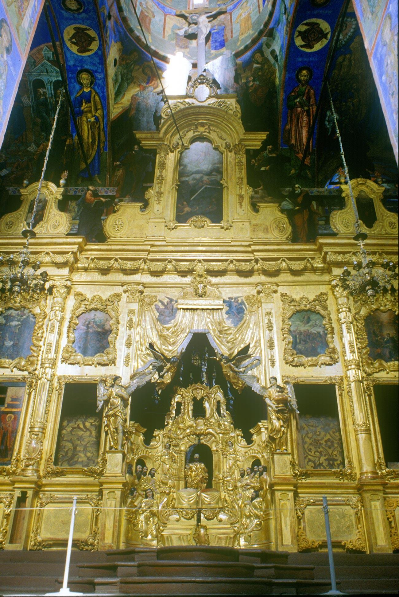 Church of St. Nicholas Nadein. Icon screen. July 28, 1998