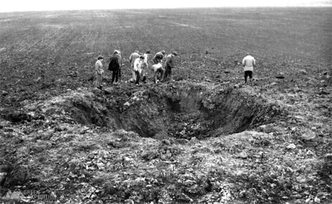Tempat jatuhnya meteorit Sterlitamak, 1990.