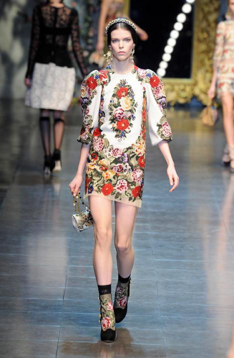 Модный показ Dolce & Gabbana в Милане, 2012