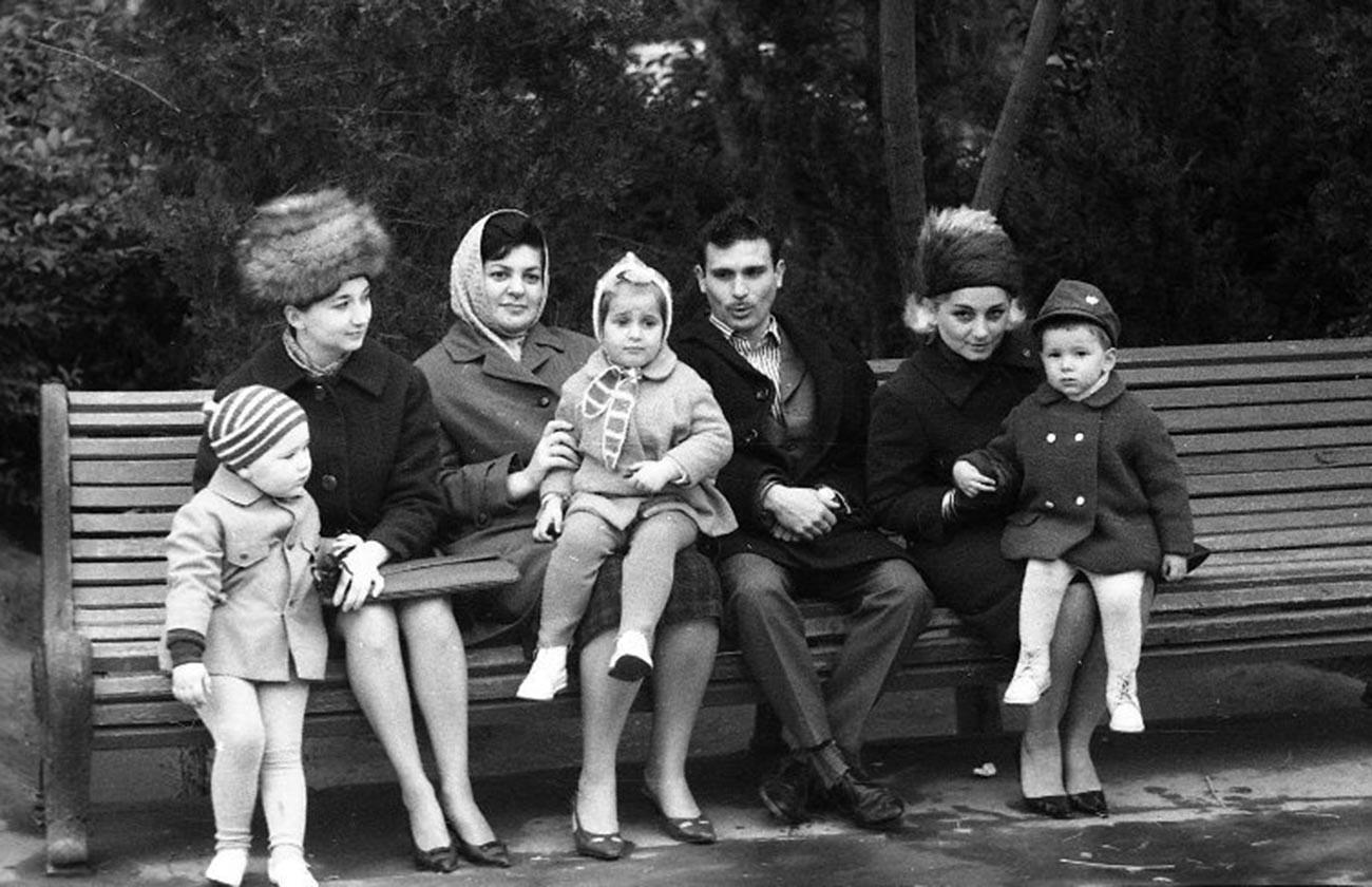 À Bakou, Azerbaïdjan, en 1955-1956